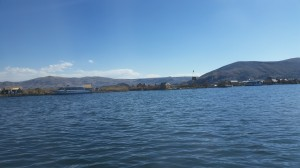 Nossa primeira visão do lago Titicaca