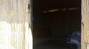 Cabana de Totora por dentro